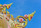 Temple roof decoration — Stock Photo