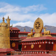 Stock Photo: Roof of Jokhang temple