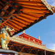 Tibetan temple roof decoration — Stock Photo