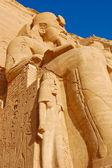 拉美西斯二雕像 — 图库照片