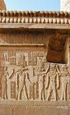 Egyptian engraved gods — Stock Photo