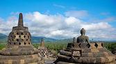 婆罗浮屠佛塔 — 图库照片