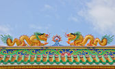 Twin Chinese dragons — Stock Photo