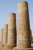 Egyptian carving on columns — Stock Photo