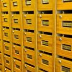 Wooden mailboxs — Stock Photo