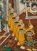 Starożytnych buddyjskiej świątyni ścienne — Zdjęcie stockowe