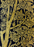 Ancient Thai floral pattern — Stock Photo
