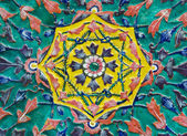 Detail of ceramic decorate — Stock Photo