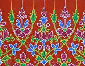 Thai floral ceramic — Stock Photo