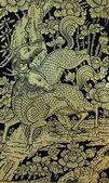 Pintura antigua ghilen tailandés — Foto de Stock