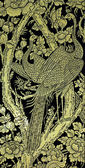 Pintura antigua del pavo real — Foto de Stock