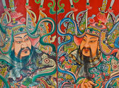 Chinese god painting — Stock Photo