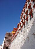 Wiersze okna pałac potala — Zdjęcie stockowe