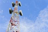 Antena de telecomunicaciones — Foto de Stock