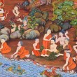 Ancient Buddhist mural — Stock Photo