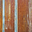 Corrugated metal wall — 图库照片
