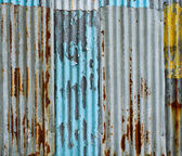 Corrugated metal wall — Stockfoto