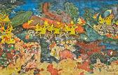 Antiguo mural tailandés — Foto de Stock