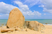 Big rocks on beach — Stock Photo