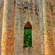 Ancient pillars in ruins temple — Foto Stock