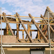 Dachstuhl abbrechen - roof truss demolish 07 — Stock Photo #11365706