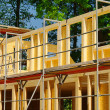 Stock Photo: Holzbau - wood construction 04