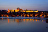 Prague cathedral night 03 — Stock Photo