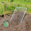Stock Photo: Compost pile sieve 02
