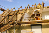 Roof truss demolish 12 — Stock Photo