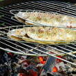 Stock Photo: Grilling trout 08