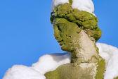 Moritzburg hrádek bažant v zimě socha 01 — Stock fotografie