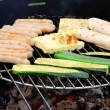 Foto Stock: Grilling cheese 01