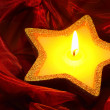 Candle on red 13 — Stock Photo