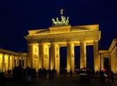 Berlin Brandenburg Gate night 09 — Stock Photo