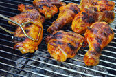 Grilling chicken 21 — Stock Photo