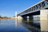 Ponte di Magdeburgo acqua 09 — Foto Stock