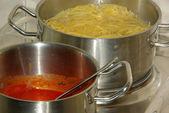 Cooking spaghetti 13 — Stock Photo