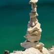 Stock Photo: Tower from pebbles 18