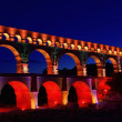 Stock Photo: Pont du Gard night 01