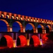 Pont du Gard night 01 — Stock Photo #11992536