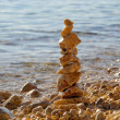 Tower from pebbles 02 — Stock Photo