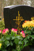 Floral arrangement cemetery 24 — Foto Stock