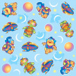 Funny aliens pattern - Stock Photo