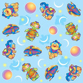 Funny aliens pattern — Stock Photo