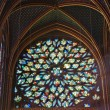 Rose Window of the Sainte Chapelle, - Stock Photo