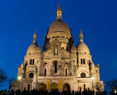 Sacre Coeur during the blue hour — Stock Photo