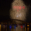 Stock Photo: Firework over Rhine River
