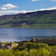 Stock Photo: Ruins of Urquhart Castle overlooking Loch Ness