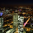 Cityscape of Frankfurt at night — Stock Photo