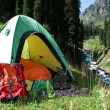 Stock Photo: Touristic tent